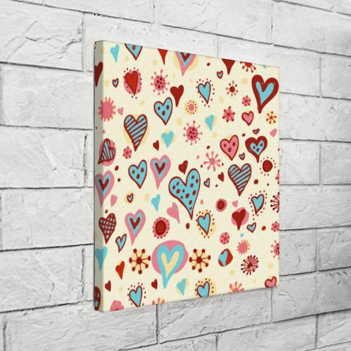 Холст квадратный  Фото 03, Сердечный орнамент 2