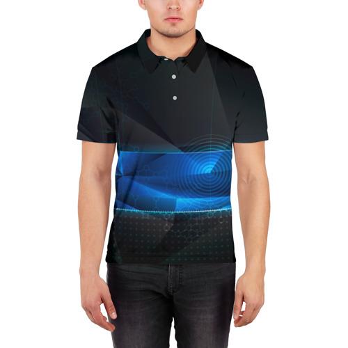 Мужская рубашка поло 3D  Фото 03, Нано