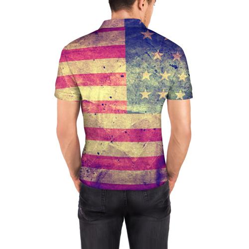 Мужская рубашка поло 3D  Фото 04, Америка