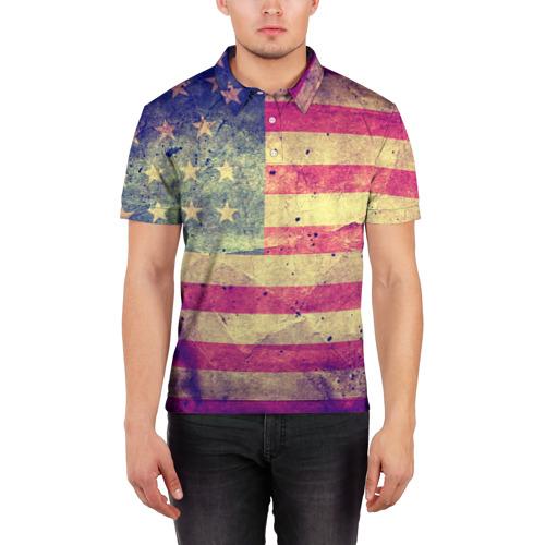 Мужская рубашка поло 3D  Фото 03, Америка
