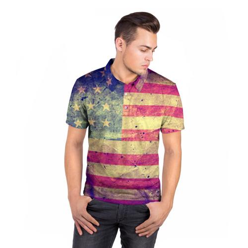Мужская рубашка поло 3D  Фото 05, Америка