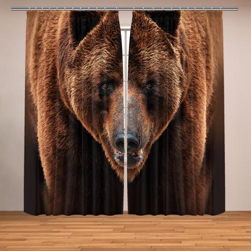 Фотошторы Медведь