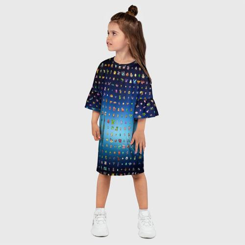 Детское платье 3D  Фото 03, Покемон