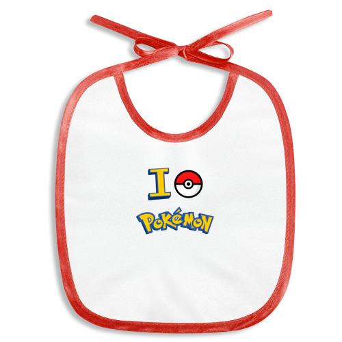 Слюнявчик  Фото 01, Покемон I love pokemon