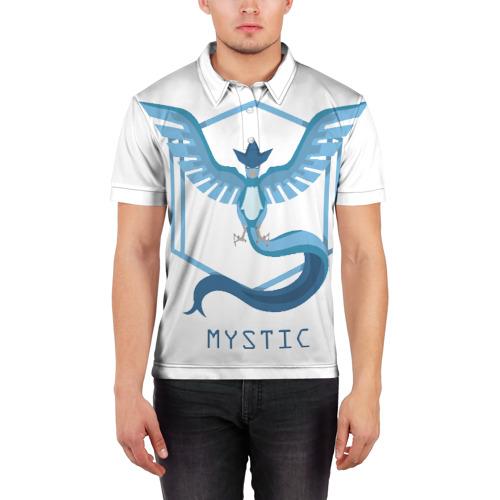 Мужская рубашка поло 3D  Фото 03, Pokemon GO команда Мистик