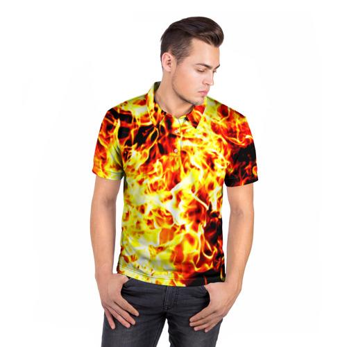 Мужская рубашка поло 3D  Фото 05, Пожар