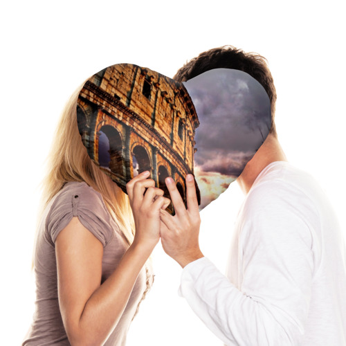 Подушка 3D сердце  Фото 03, Колизей