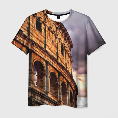 Мужская футболка 3D Колизей