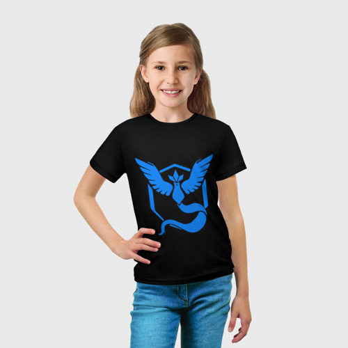 Детская футболка 3D Pokemon Blue Team Фото 01