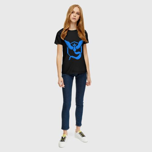 Женская футболка 3D Pokemon Blue Team Фото 01