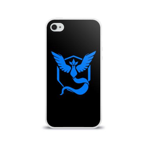 Чехол для Apple iPhone 4/4S силиконовый глянцевый Pokemon Blue Team Фото 01