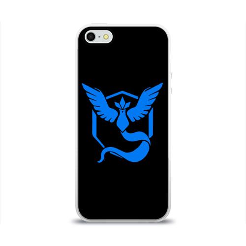 Чехол для Apple iPhone 5/5S силиконовый глянцевый Pokemon Blue Team Фото 01