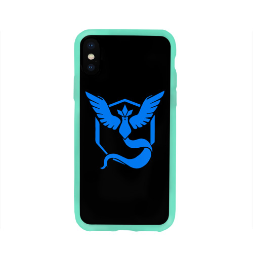 Чехол для Apple iPhone X силиконовый глянцевый Pokemon Blue Team Фото 01
