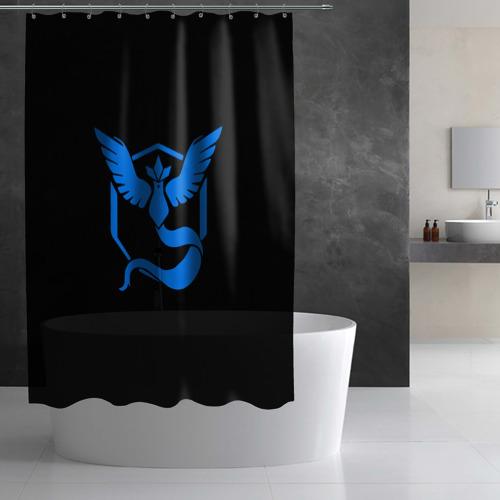 Штора 3D для ванной Pokemon Blue Team Фото 01