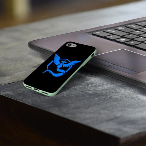 Чехол для Apple iPhone 8 силиконовый глянцевый Pokemon Blue Team Фото 01