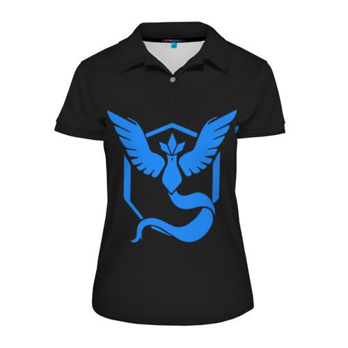 Женская рубашка поло 3D Pokemon Blue Team
