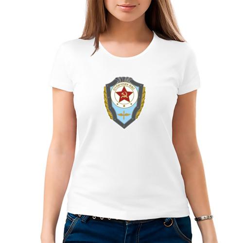 Женская футболка хлопок  Фото 03, Отличник ВВС