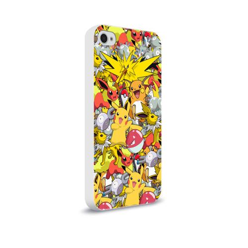 Чехол для Apple iPhone 4/4S soft-touch  Фото 02, Pokemon 5