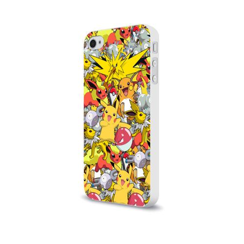 Чехол для Apple iPhone 4/4S soft-touch  Фото 03, Pokemon 5
