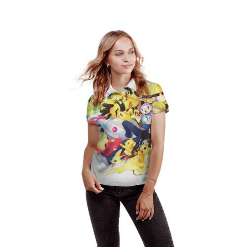 Женская рубашка поло 3D Pokemon 10 Фото 01