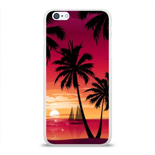 Чехол для Apple iPhone 6Plus/6SPlus силиконовый глянцевый  Фото 01, Пальмы