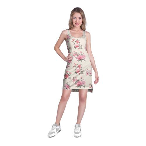 Платье-майка 3D  Фото 03, Цветы ретро 9