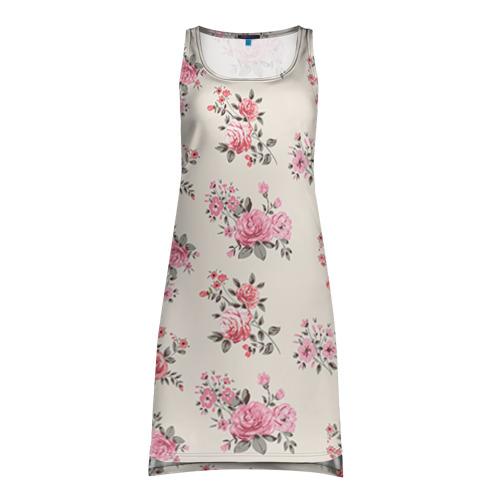 Платье-майка 3D  Фото 01, Цветы ретро 9