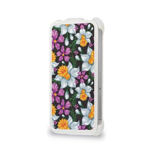 Чехол для Apple iPhone 4/4S flip  Фото 06, Цветы ретро 8
