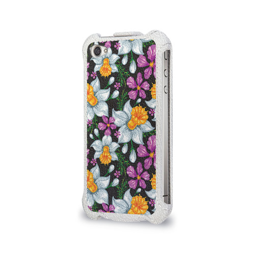 Чехол для Apple iPhone 4/4S flip  Фото 03, Цветы ретро 8