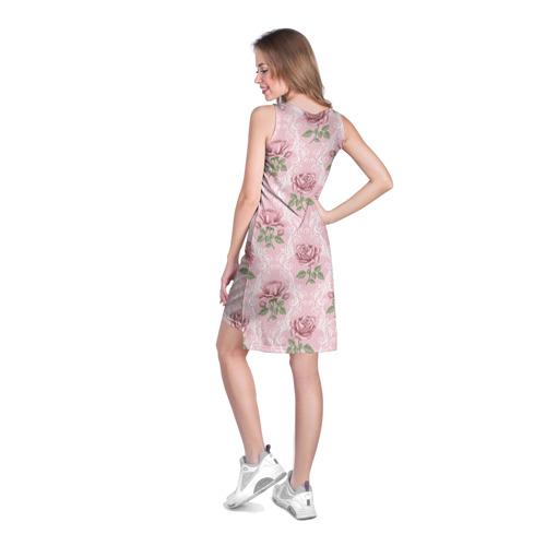Платье-майка 3D  Фото 04, Цветы ретро 7