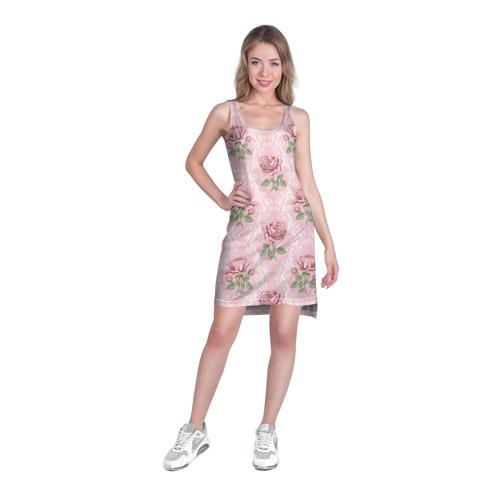 Платье-майка 3D  Фото 03, Цветы ретро 7