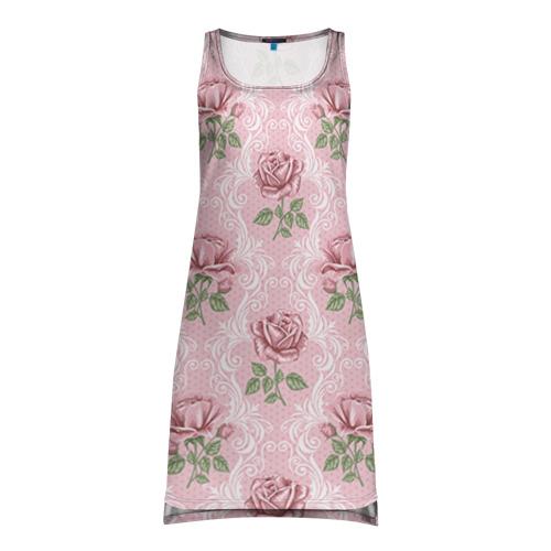 Платье-майка 3D  Фото 01, Цветы ретро 7