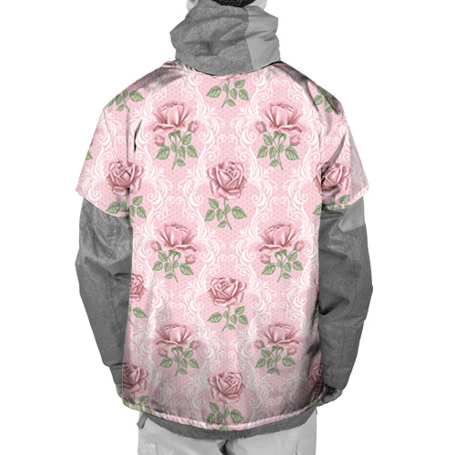 Накидка на куртку 3D  Фото 02, Цветы ретро 7