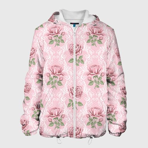 Мужская куртка 3D  Фото 01, Цветы ретро 7