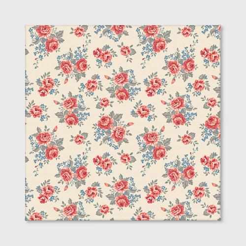 Холст квадратный  Фото 02, Цветы ретро 6