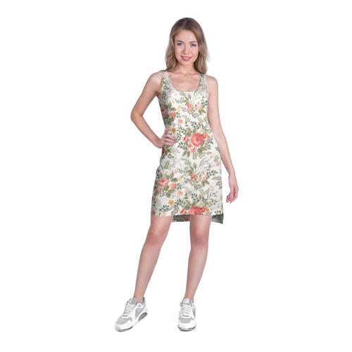 Платье-майка 3D  Фото 03, Цветы ретро 3