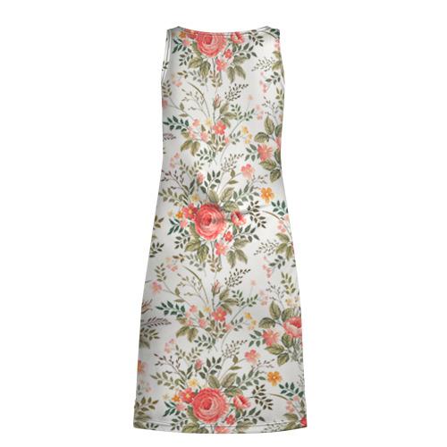 Платье-майка 3D  Фото 02, Цветы ретро 3