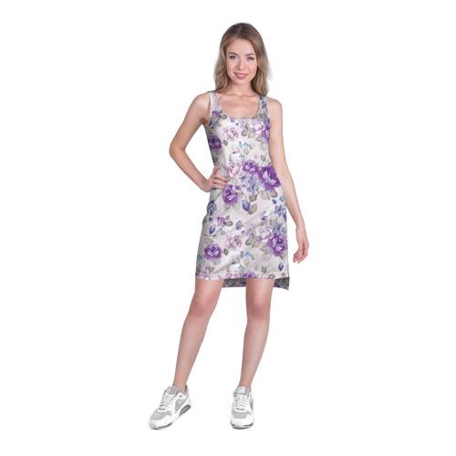 Платье-майка 3D  Фото 03, Цветы ретро 2