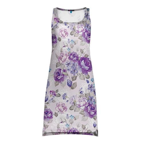 Платье-майка 3D  Фото 01, Цветы ретро 2