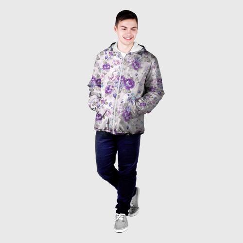 Мужская куртка 3D  Фото 03, Цветы ретро 2