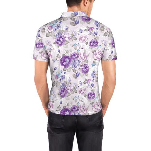 Мужская рубашка поло 3D  Фото 04, Цветы ретро 2