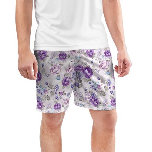 Мужские шорты 3D спортивные  Фото 03, Цветы ретро 2