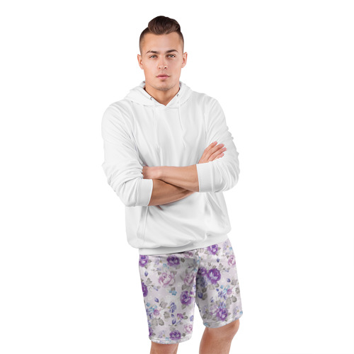 Мужские шорты 3D спортивные  Фото 05, Цветы ретро 2