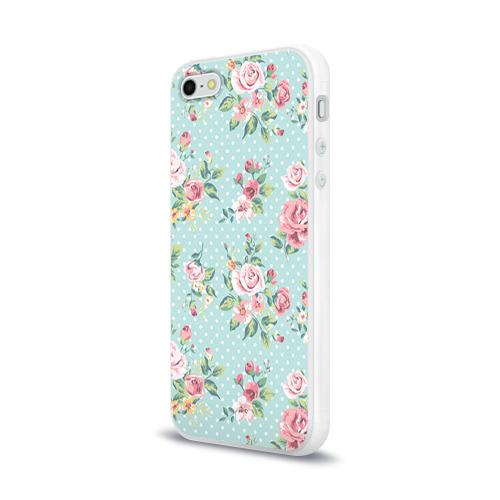 Чехол для iPhone 5/5S глянцевый Цветы ретро 1 Фото 01