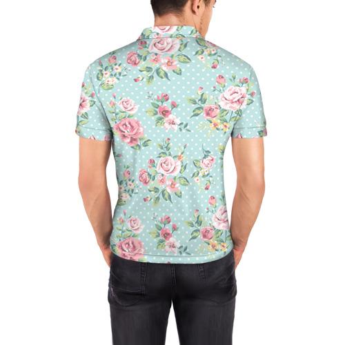 Мужская рубашка поло 3D  Фото 04, Цветы ретро 1