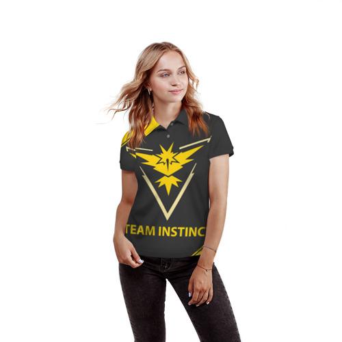 Женская рубашка поло 3D  Фото 03, Pokemon Yellow Team