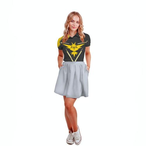 Женская рубашка поло 3D  Фото 04, Pokemon Yellow Team
