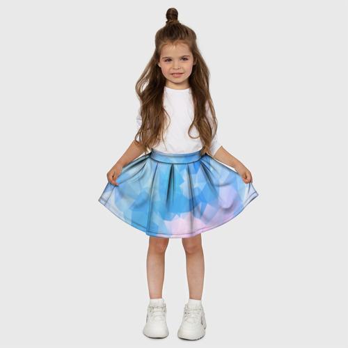 Детская юбка-солнце 3D Triangulates Фото 01