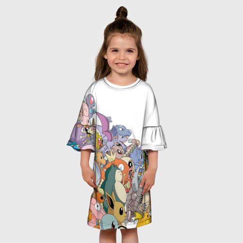 Детское платье 3D  Фото 01, Покемоны