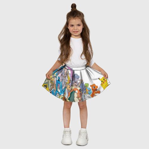 Детская юбка-солнце 3D  Фото 03, Покемоны